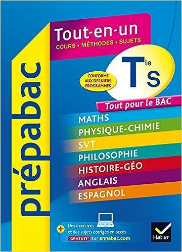 Prépabac Tout-en-un Tle S: tout pour réviser le Bac S: Amazon.es: Jean-Philippe Renaud, Didier Hourquin, Jean-Dominique Picchiottino, Jean-Yves Kerzulec, ...
