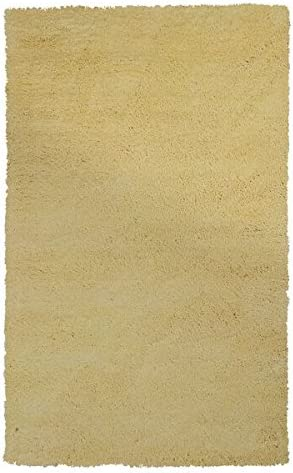 Kas Rugs 1574 Bliss Area Rug, 5 by 7-Feet, Canary Yellow