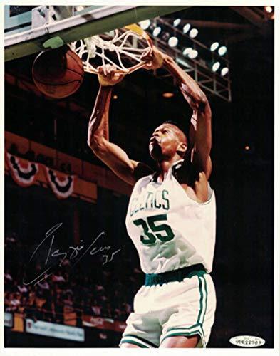 Reggie Lewis Autographed Boston Celtics 8x10 Photo Leather UDA Book UDA