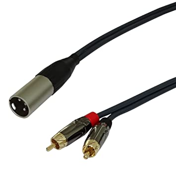 Black C30274 2 M meters Aerzetix: 4 Pin male to 4 Pin Female XLR Cable