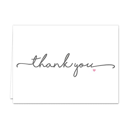 thanks from the heart thank you note card pack set of 36 cards blank - Thank You Note Cards