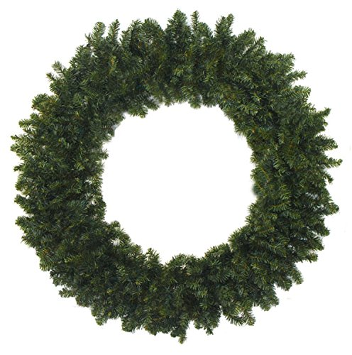 "Custom & Unique (48"" Inches) 1 Single XL Size Decorative Holiday Wreath for Door, Made of Resin w/ Artificial Winter Festive Christmas Canadian Pine Leaves & Branches Style (Brown, Green, & Black)"