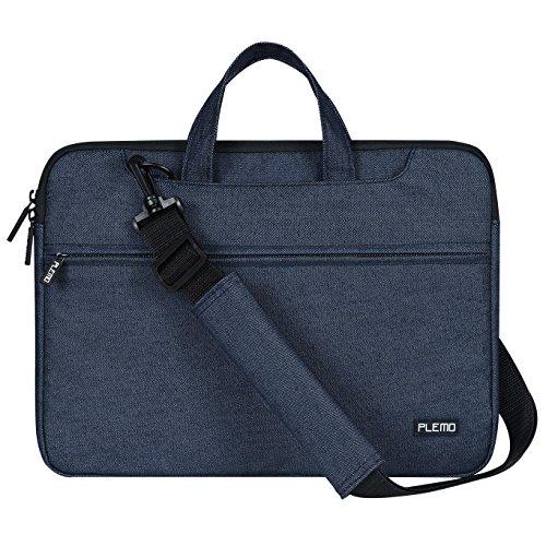 Plemo 15 - 15,6 Zoll Laptop Tasche mit Schultergurt, Hülle Tasche Aktentasche für Laptops / MacBook / Notebook, Dunkelblau