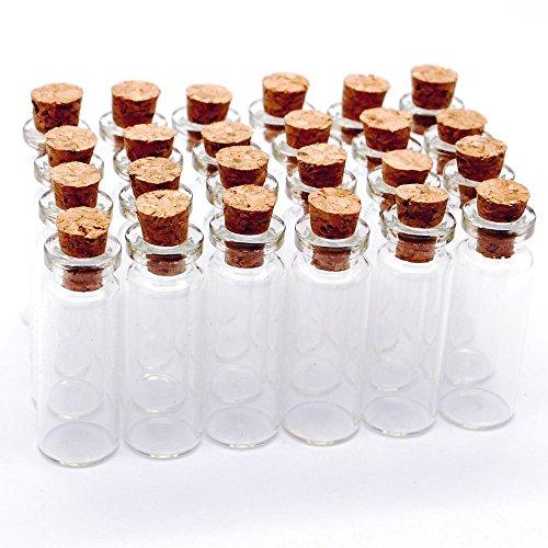 10pcs Pequeñas Lucky Drift Rainbow que deseen botella de cristal transparente de cristal de corcho: Amazon.es: Hogar