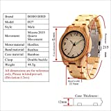 BOBO BIRD D27 Mens Bamboo Wooden Watch With Full Bamboo Wrist Band Japanese Quartz Movement Casual Watches