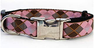 product image for Diva-Dog 'Argyle' Custom Engraved Dog Collar