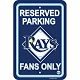 "MLB Tampa Bay Rays 12"" x 18"" Reserved Parking Sign - Navy Blue"