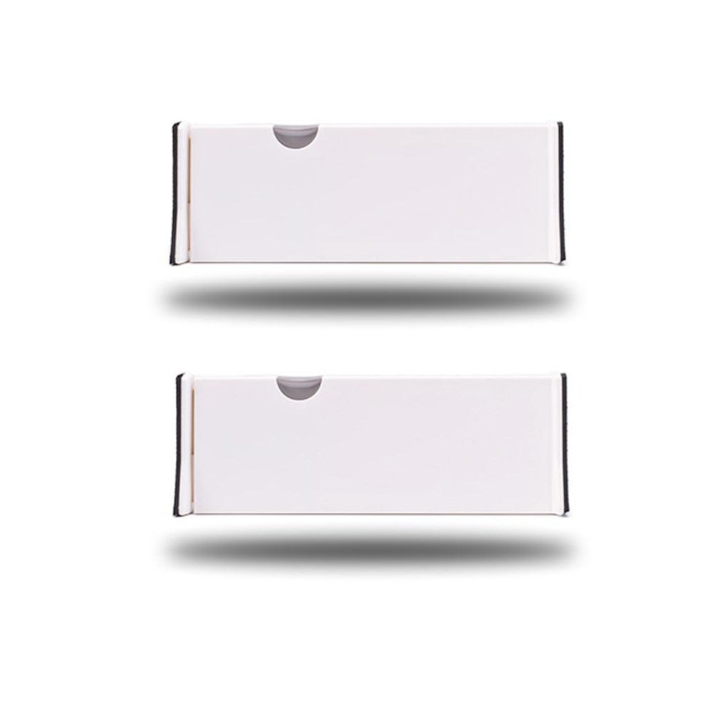 Keweis Adjustable Drawer Dividers for Kitchen Clothes Dresser Bathroom Bedroom Desk Baby Drawer(White, 2 Pack)