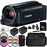 Canon VIXIA HF R800 Camcorder 9PC Accessory Bundle – Includes 64GB SD Memory Card, 3 Piece Filter Kit (UV, CPL, FLD), More - International Version (No Warranty) -  SSE