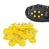 ASIV 30 Pcs Universal Anti Skid Shoe Ice Grippers Crampons Replacement Traction Spikes for Climbing Hiking Snow Walking