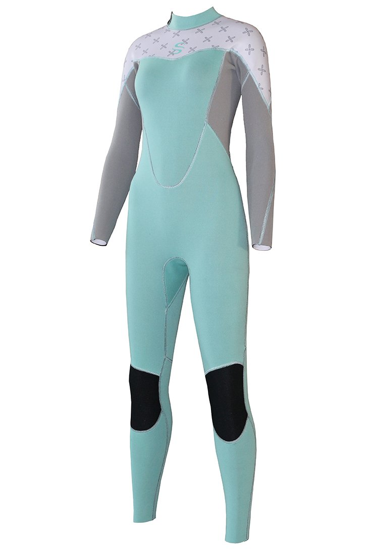Micosuza Women Full Body Wetsuits with Premium 2mm Neoprene Long Sleeve Long Leg Back Zip for Diving Snorkeling Surfing Swimming