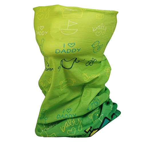 ANUANT Kids Youth Neck Gaiter Fishing Sun Mask - Junior Face Tube Mask Shield for Snow Ski Skiing Running - UV Sun Protection, Dust, Wind Shield Headband in Spring, Fall, Winter (Green)