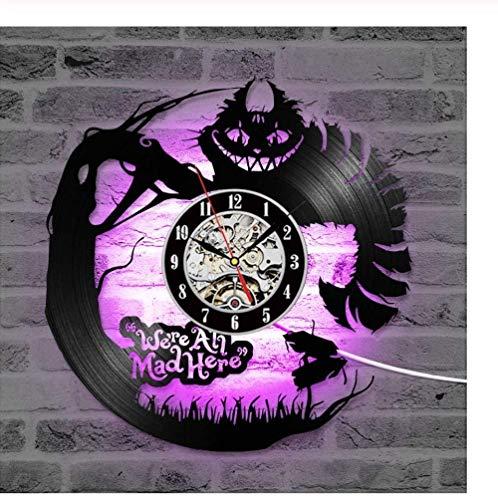 ZCGHGXGJ Schallplatte Uhr Kreative Schallplatte Uhr Antik Neues Design Hängende Uhr -