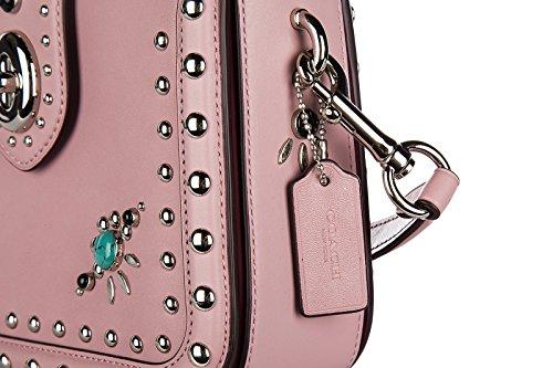 Coach borsa donna a tracolla pelle borsello western rosa