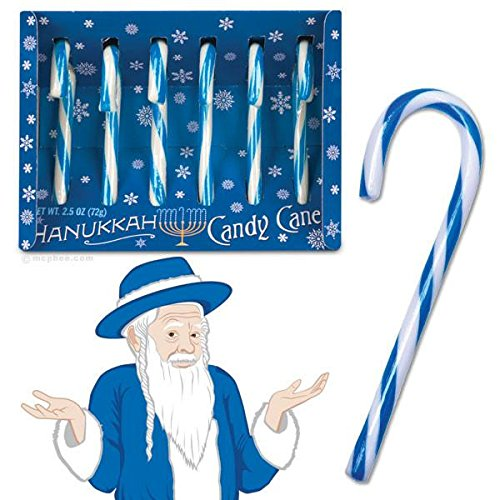 Hanukkah Candy Canes (Blue Candy Canes)