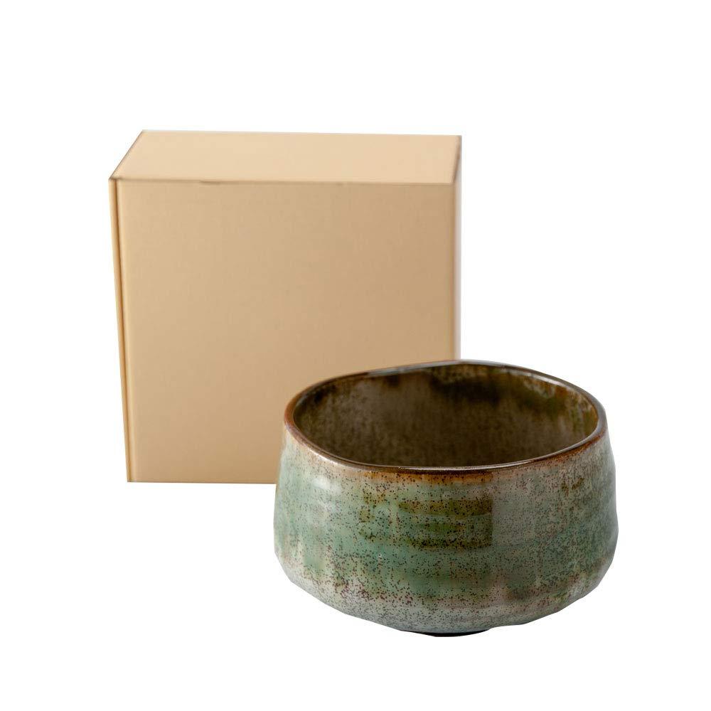 Minoyaki Shikibu Deep Forest Matcha Bowl''Ochawan'' (Made in Japan) by Ale-Net (Image #4)