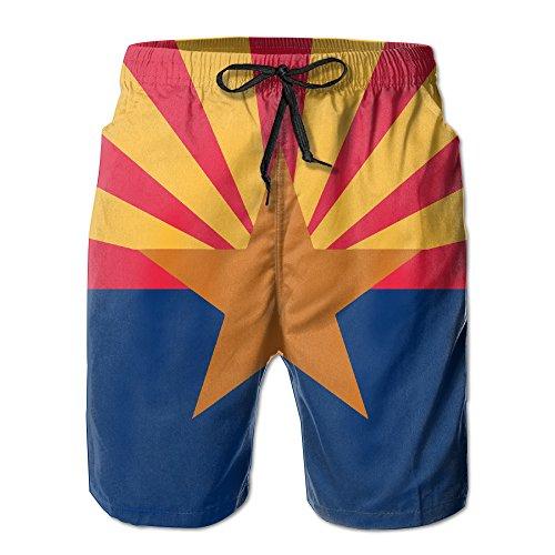 YY909 Men's Arizona State Flag Casual Beachwear Quick-Dry Swim