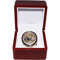 $99 » Golden State Warriors (Steph Curry) 2017 NBA Finals World Champions Collectible High-Quality Replica Gold Basketball…