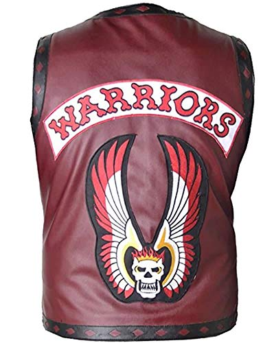 Stormwise Men's Fashion Warrior Leather Ajax Vest Faux Red -