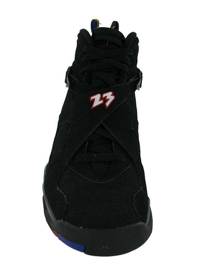 best service 2a5a8 e4ed3 Amazon.com   Nike Mens Air Jordan 8 Retro Playoff Black Varsity Red Leather  Basketball Shoes Size 9.5   Basketball