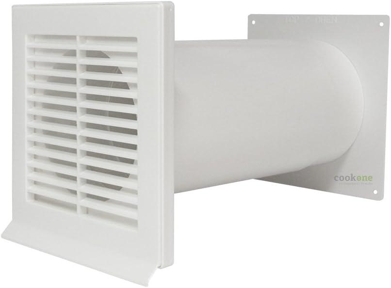 EASYTEC Muro Buzón Diámetro 150 mm blanco con tubo telescópico y válvula antirretorno: Amazon.es: Grandes electrodomésticos