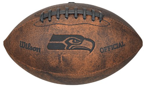NFL Seattle Seahawks Vintage Throwback Football, 9-Inches