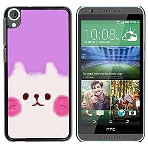 Be Good Phone Accessory // Dura Cáscara cubierta Protectora Caso Carcasa Funda de Protección para HTC Desire 820 // Cute Puppy Pink White