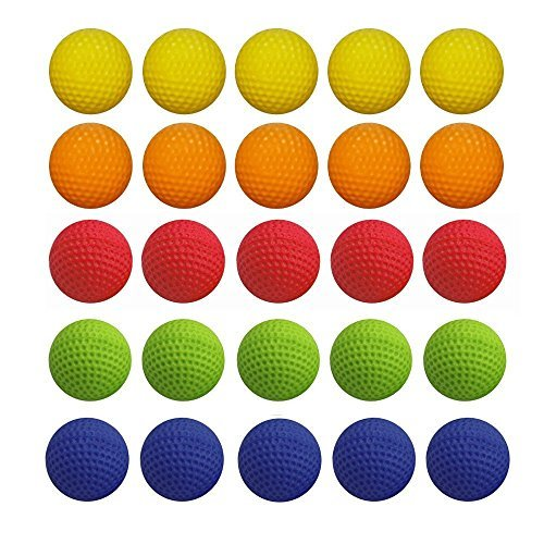 Round Nerf Rival Apollo Zeus Refill Toy Compatible Gun Bullet Balls Guns Blasters-Have Fun (50pcs)