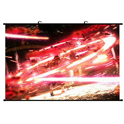 Zzeroe Demon Slayer: Kimetsu no Yaiba Poster Prints, Anime Scrolls Poster Banners for Collect Home Wall Bedroom Decoration, 40X60CM(H03) from Zzeroe