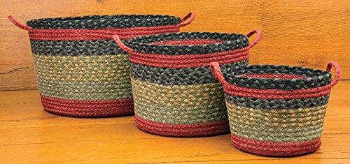 Earth Rugs 38-UBMD238 Basket Medium Burgundy/Olive/Charcoal