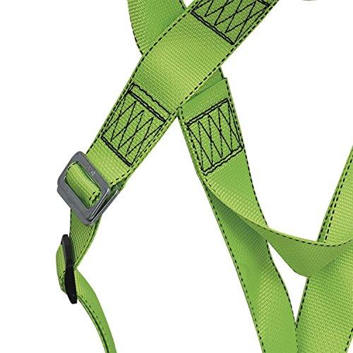 Peakworks Fall Protection V8001000 Industrial, Construction, ANSI Compliant Safety Harness, Universal Fit, Green by Peakworks (Image #2)