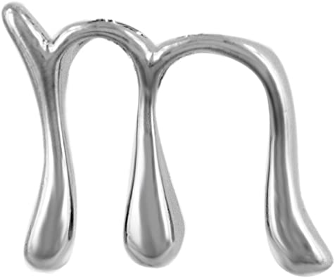 Designer Inspired Sterling Silver Script a Pendant