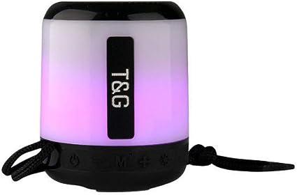 Amazon Com Cool Led Light Portable Bluetooth Speaker Tg 156 Black Home Audio Theater