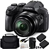 Panasonic Lumix DMC-FZ300 Digital Camera 8PC Accessory Kit. Includes 2 Replacement BLC-12 Batteries + AC/DC Rapid Home & Travel Charger + Micro HDMI Cable + Carrying Case + Microfiber Cleaning Cloth