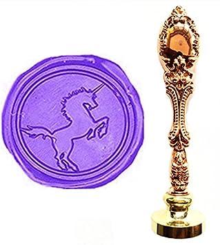 MNYR - Juego de sellos de cera, diseño de unicornio de ...
