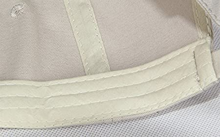 Amazon.com: Baseball Cap for Adults Cotton Cap with Leather label Suitable for Spring Summer and Autumn - Beige: Sports & Outdoors