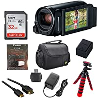 Canon Vixia HF R82 32GB Wi-Fi 1080p HD Video Camera Camcorder with 32GB Card, Battery & Charger, Spider Tripod (Gorillapod), Case