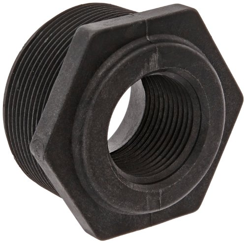 Banjo RB200-100 Polypropylene Pipe Fitting, Reducing Bushing, Schedule 80, 2 NPT Male x 1