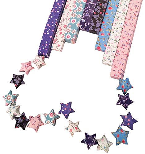 Origami Stars Papers Package (Flowers) - 8 Colors 320 Sheets - With Instruction by MasterChinese