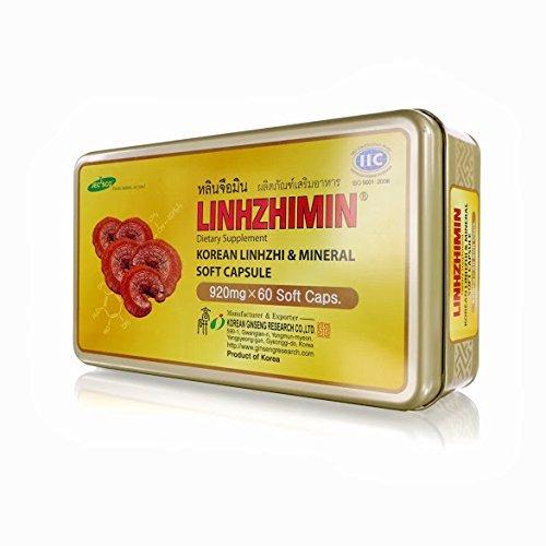2 BOX LINHZHIMIN Dietary Supplement Korean Linhzhi Mineral Soft Capsule 120 CAPS