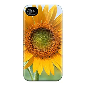 Rugged Skin Case Cover For Iphone 4/4s- Eco-friendly Packaging(bautiful Flower)