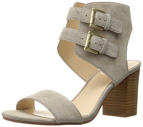 Nine West Women's Galiceno Suede Heeled Sandal, Taupe, 36 B(M) EU/4 B(M) UK