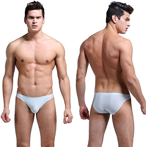 Flower.Princess F.P Mens Underwear Breathable Comfort Ice Silk Ultra-Thin Quick-Drying Triangle Bikinis and Briefs(Pack of 7)