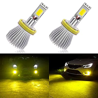 3000LM High Power LED Fog Light Bulbs 3000K Golden Yellow with Strobe Flashing for Car Truck Fog Lamp Replacement
