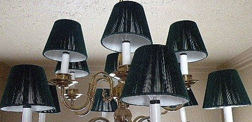 4, Hunter Green, Chandelier Lamp Shades, Mini Shades,,17b1.0