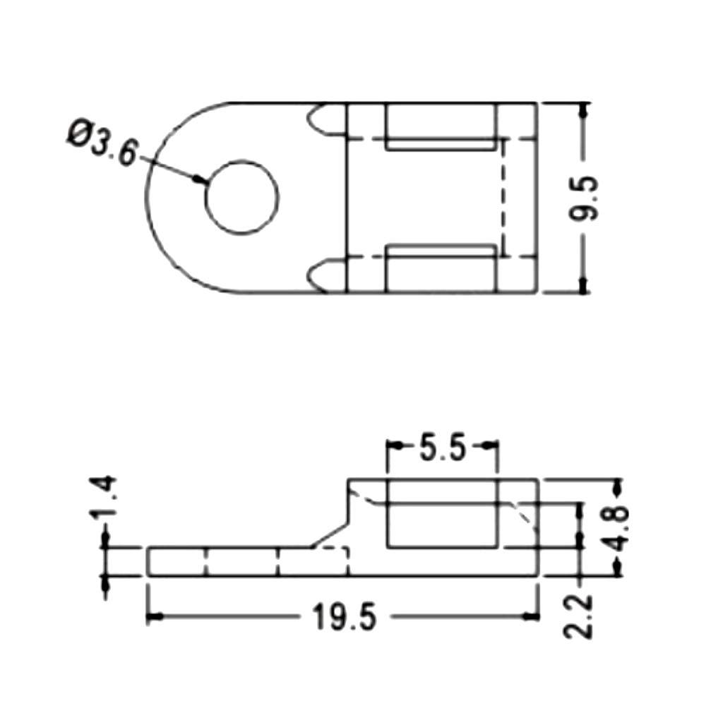 100 Bases de fijaci/ón por tornillo para bridas abrazaderas de sujeci/ón cables alambres max 5.1mm C41942 AERZETIX
