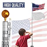 GC Global Direct American Flag Telescoping Pole with US Flag (25FT)