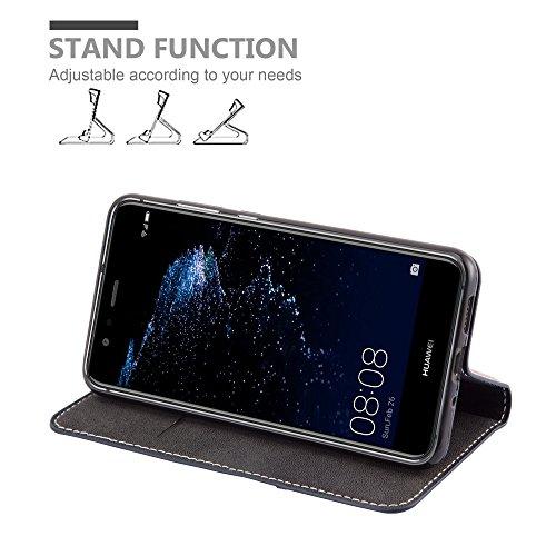Cadorabo - Funda Estilo Book para >                                      Huawei P10 LITE                                      < de Diseño gamuza-Artificial / Cuero-Artificial con Tarjetero, Función de Soporte y Cierre Magnético Invisible