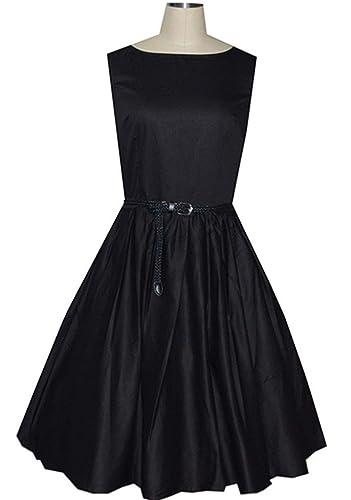 Eyekepper –  Vestito  – Sera  – Senza maniche  – Donna nero Large