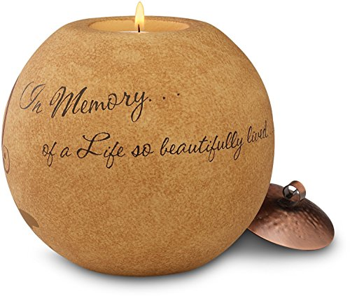 Pavilion Gift Company Comfort Candles 5-Inch Round Tea Light Holder, in Memory ()
